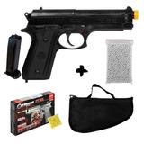 Pistola Airsoft Taurus Pt92 Cybergun Spring 6mm + Brindes