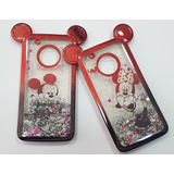 Capinha Capa Minnie Mickey Liquido Dinâmico Motorola G5 Plus