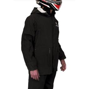 Traje De Lluvia Moto Negro Jgo. 2 Piezas