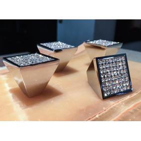 Jaladera Exclusiva Con Cristales/cajon/ 30x30mm/set 4 Pzs