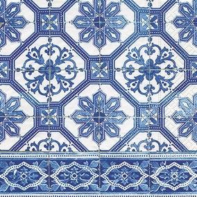 Guardanapo Blue Tiles, 33x33 Cm - Paper Design