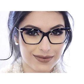 Armação Feminino Chic Óculos Oluxo 51 Importado Original 44c50b96da