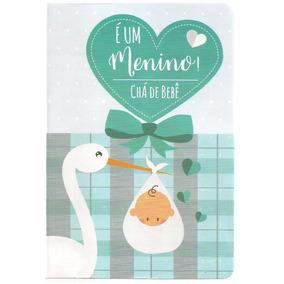 50 Convites De Chá De Bebê - Menino - Ref. 263