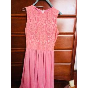 Elegante Vestido De Noche Color Rosa