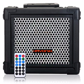 Caixa Hayonik 20w Iron 80 Fm Bluetooth Microsd Usb Preta
