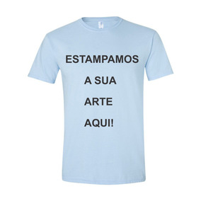 Camisetas Cor Azul Bebê E Personalizada P Ao Gg
