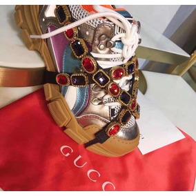 Zapatilla Gucci Flashtrek Con Cristales