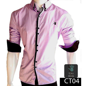 3b5b8de169 Camisa Social Estilo Europeu Luxo Pronta Entrega Slim Fit