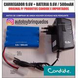 Bateria 9.6v 500mah + Carregador 9.6v (tamiya)