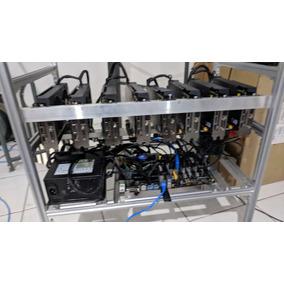 Rig Mineração Criptomoedas 8x Radeon Rx570 Ethereum 224 Mh/s