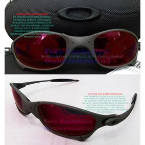 87268aec0 Oculos Juliet Xmetal Lente Vermelha Dark Ruby + Case Rigido
