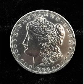 Moeda Prata América Dólar 3,8diam