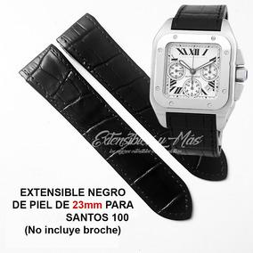b2eec6dc4ed4 Correa Extensible Negro Piel 23mm Para Santos 100