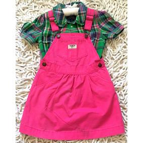 09b1a4b06b410 Conjunto Vestido+camisa Infantil Menina Ralph Lauren+oshkosh