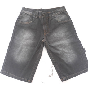 Bermuda Jeans Juvenil Masculina Due Boys