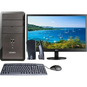 Computador Completo: Gabinete + Monitor Led + Teclado +mouse