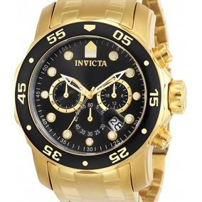 Relógio Invicta Pro Diver 0072 - Original Dourado E Preto