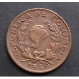 Moneda Colombia 2 Centavos 1948 Variante 1