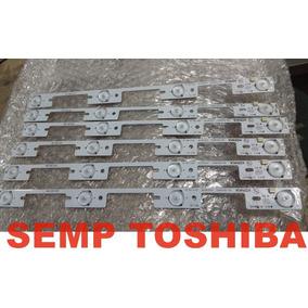 O Kit 6 Barra Led Semp Toshiba 40l2400 40l5400 - Original