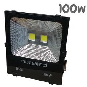 Refletor Led Cob 100w Preto Alta Qualidade 6500k Promoção