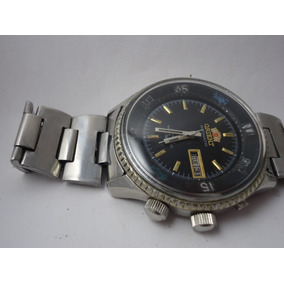 6d6877c9df2 Patacão Antigo Relógio Orient Automático 3 Chaves King Diver