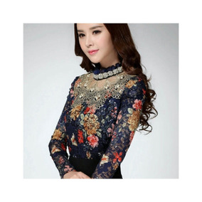 Blusa Importada Floral Casual