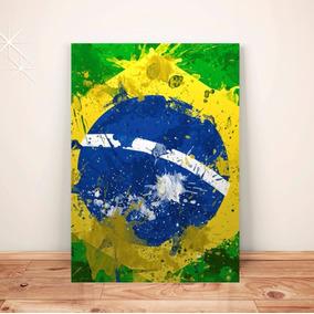 Pôster Bandeira Do Brasil C/frete Placa A3 Adesiv #pdv122a0