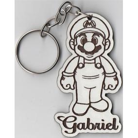 84a8268655fa0 Chaveiro Mdf Brind Personalizado Lembrança Mario Game.