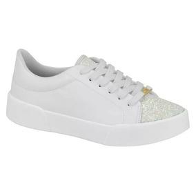 e2dad224b8 Tenis Feminino Branco Com Glitter Vizzano - Calçados