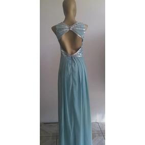 Vestido De Noche, Lentejuelas (aqua)