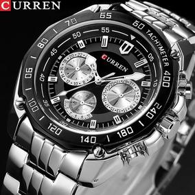 Relógio Masculino Aço Inox Curren 8077