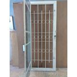 Porta Ferro Usada Com Batente - 2,10x85 Material Demolição