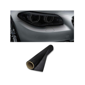 Pelicula Mascara Negra Fume Farol Lanterna Pisca 1m X 30cm