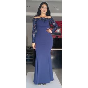 Vestidos de noche azul y negro