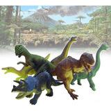 Figuras Dinosaurios X12 Juguete Plástico Para Niños Rf 121