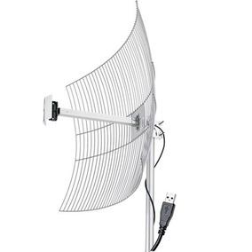Antena Usb Parábola De Grade 20 Dbi 2.4 Ghz