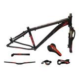Kit Bike Quadro Suspensão Tyt Mtb Aro 29 + Peças - Vermelho