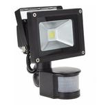 Reflector Lampara Led Con Sensor De Movimiento 10w Luz Fria