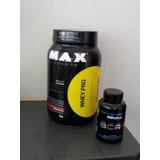 Whey Max Titanium 1 Kg + Bcaa Atletica 120 Caps