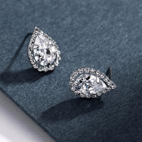 8d66e5d914 Aretes Imitación Diamante Piedra Gota De Agua