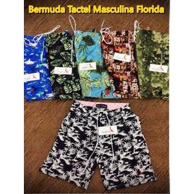 Kit 2 Bermuda Tactel Masculina Florida Top Top