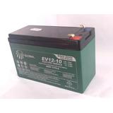 Bateria Gel Selada 12v 10ah Global - Ev12-10 Ciclo Profundo