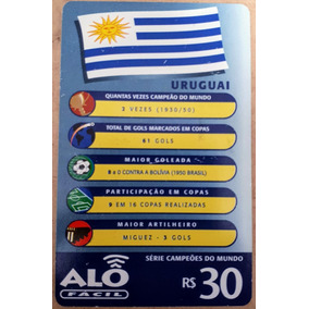 Cartão Telefônico Série Campeões Do Mundo - Uruguai