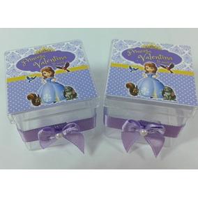 60 Caixinhas-acrílica-4x4 Princesa Sofia