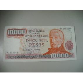 Billete Diez Mil Pesos Sin Circular Serie G