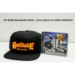 Kit Bone Realidade Cruel + Cd Dj Bola 8 O Jogo Continhua