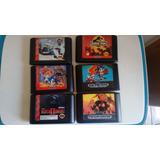 Lote De 6 Jogaços Originais Para Mega Drive