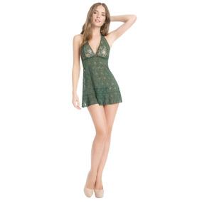 Babydoll De Encaje Ilusion 42150 Sexy Verde