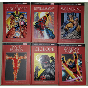 Hqs Marvel Salvat Capa Dura Vermelha Vingadores E Varios