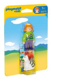 Playmobil 6975 1.2.3 Mujer Con Gato